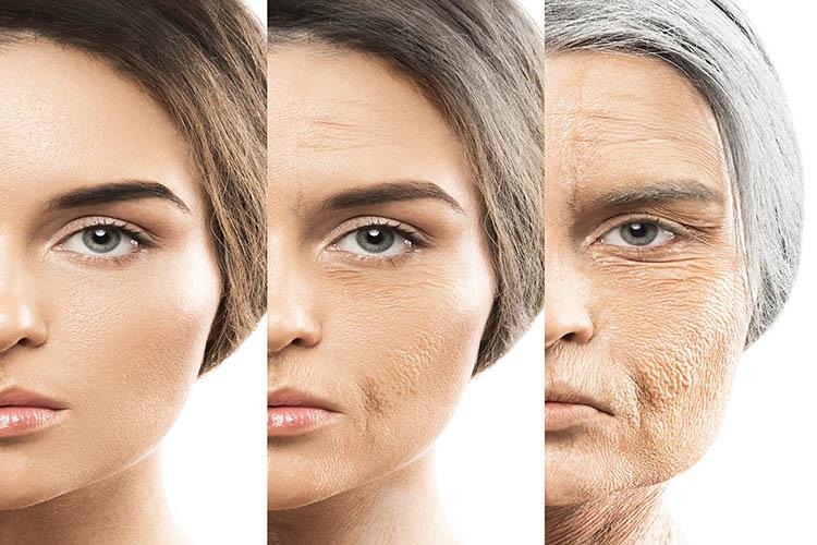 Làn da lão hóa theo tuổi tác và trở nên khô hơn