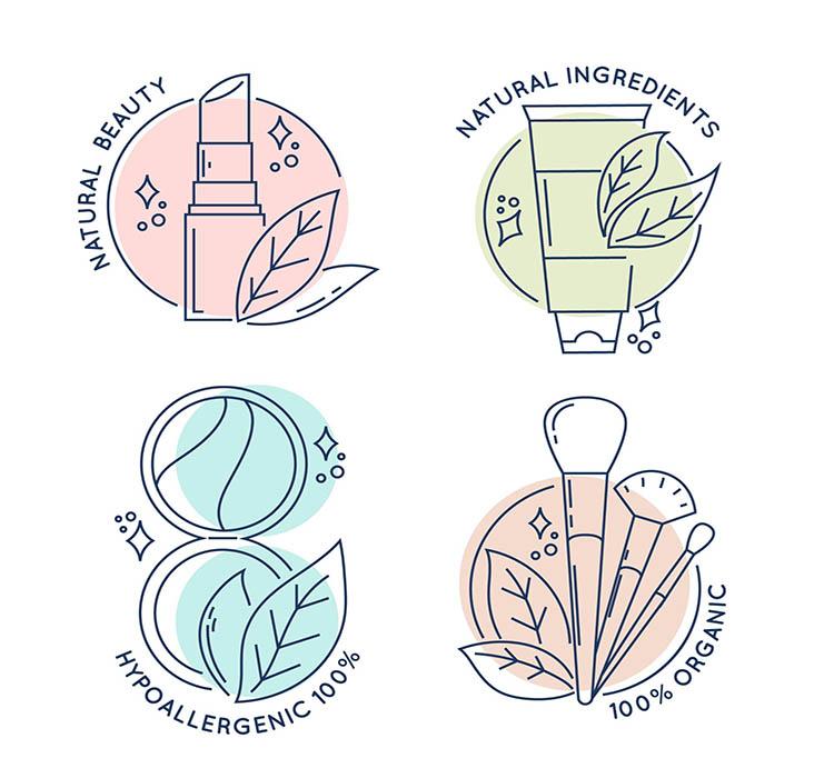 mỹ phẩm thiên nhiên được sản xuất từ các nguyên liệu tự nhiên